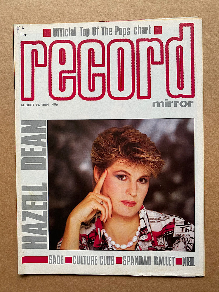 HAZEL DEAN - RECORD MIRROR - Magazine