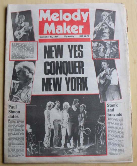 YES - MELODY MAKER