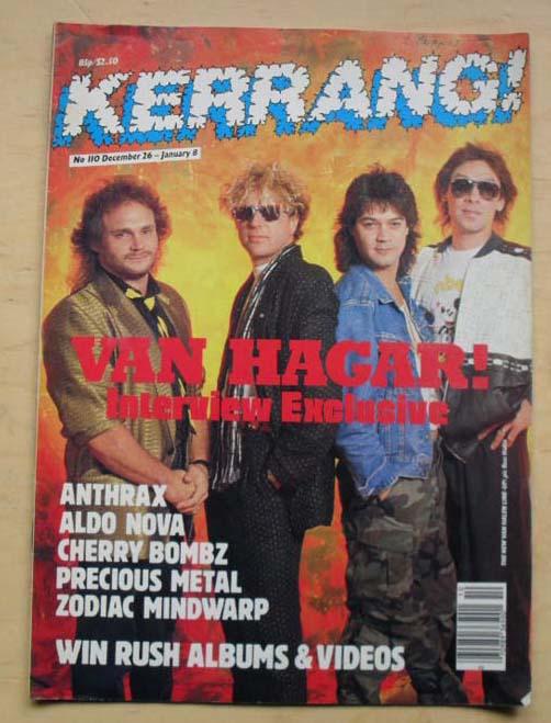 VAN HALEN - Kerrang No.110