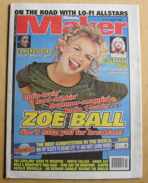 ZOE BALL - MELODY MAKER