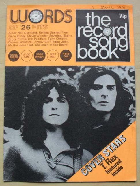 T-REX - RECORD SONGBOOK