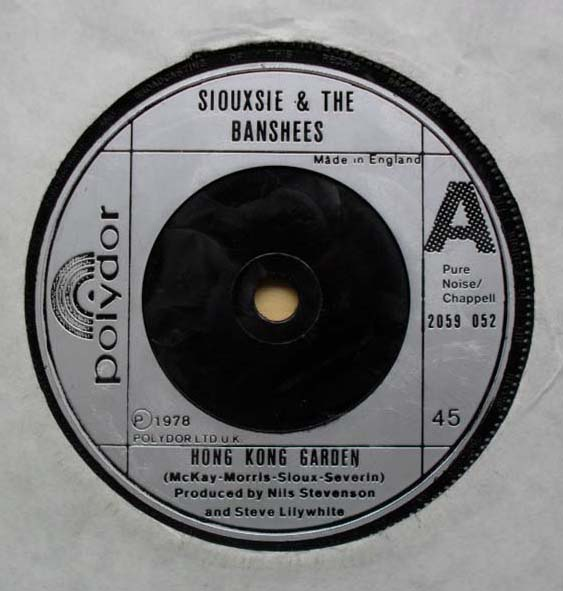 Rock of ages rare and collectable music vinyl - Siouxsie and the banshees hong kong garden ...