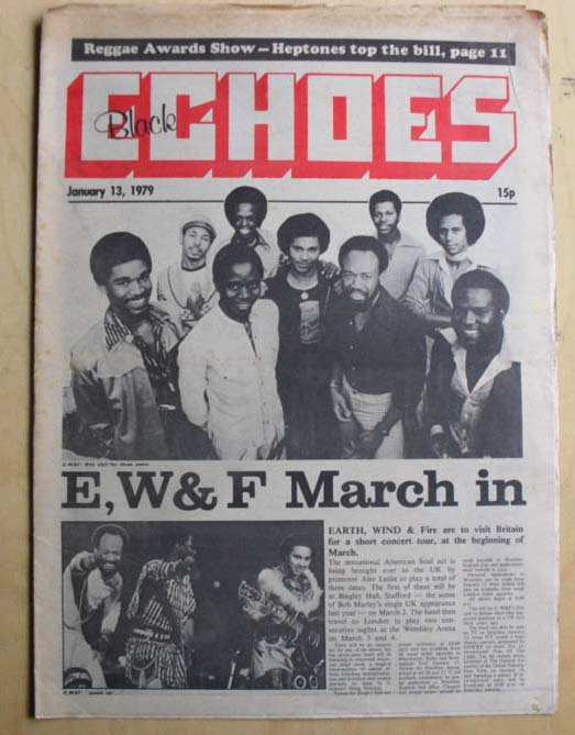 EARTH WIND AND FIRE - BLACK ECHOES - Magazine