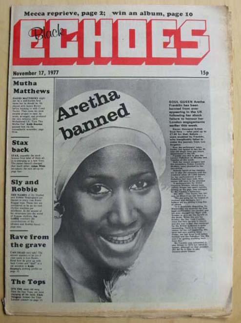 ARETHA FRANKLIN - BLACK ECHOES - Magazine