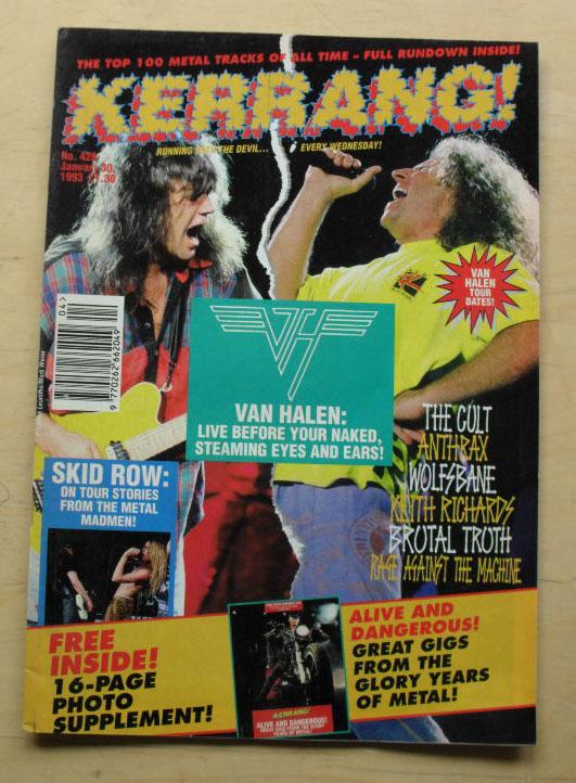 VAN HALEN - Kerrang No.428