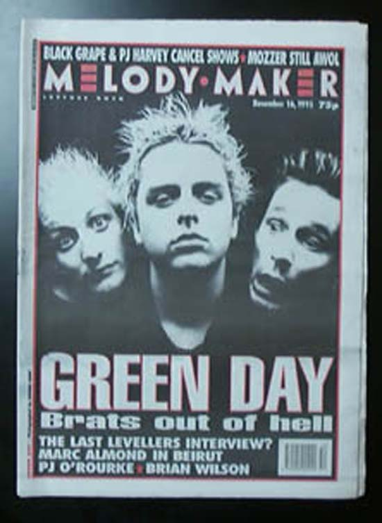 GREEN DAY - MELODY MAKER