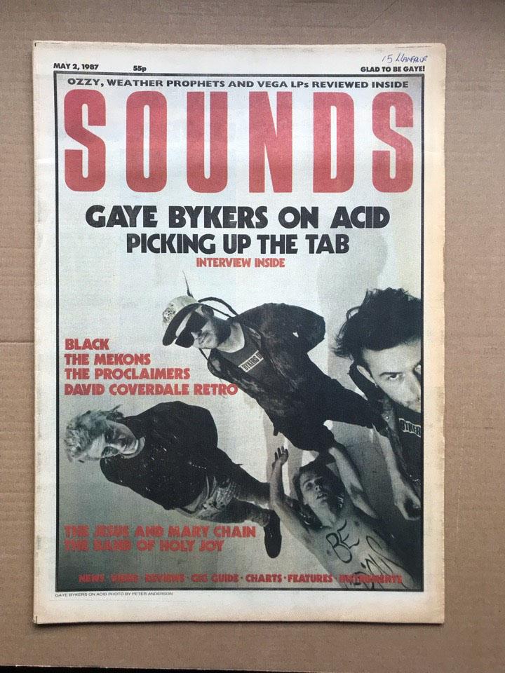 GAYE BYKERS ON ACID - SOUNDS - Magazine