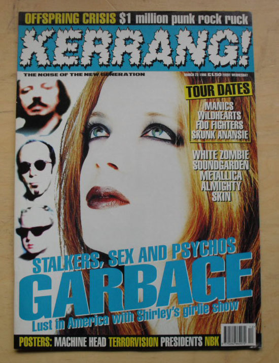 GARBAGE - KERRANG NO.589