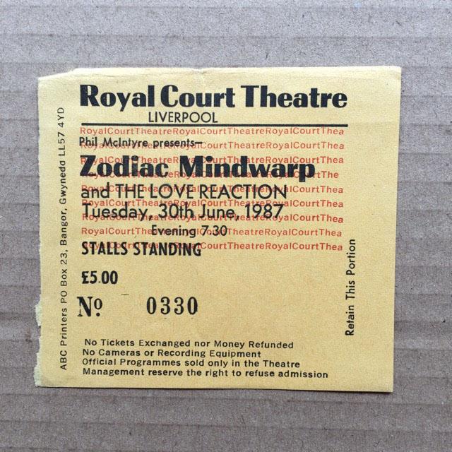 ZODIAC MINDWARP - LIVERPOOL ROYAL COURT