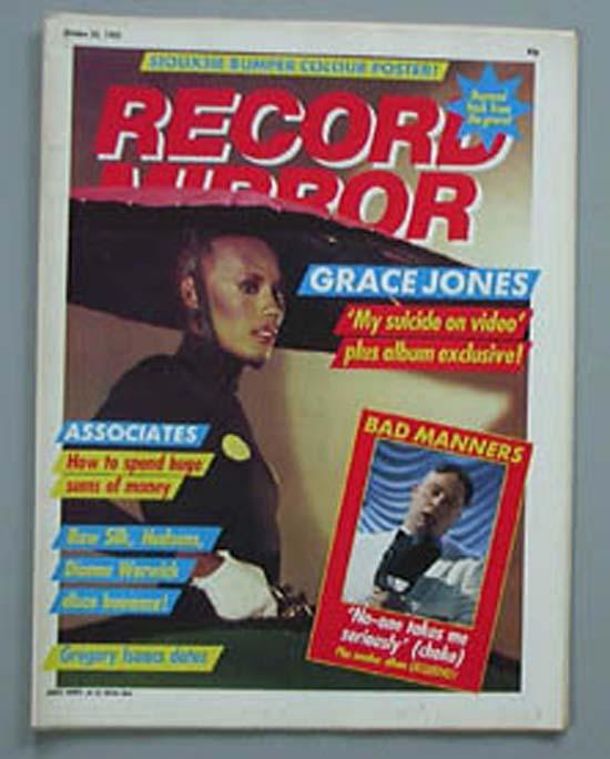 GRACE JONES - RECORD MIRROR - Magazine
