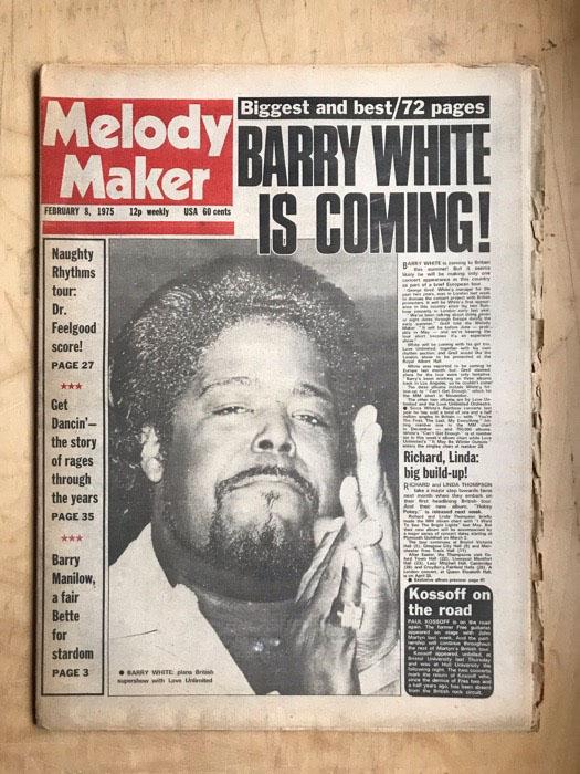 BARRY WHITE - MELODY MAKER - Magazine