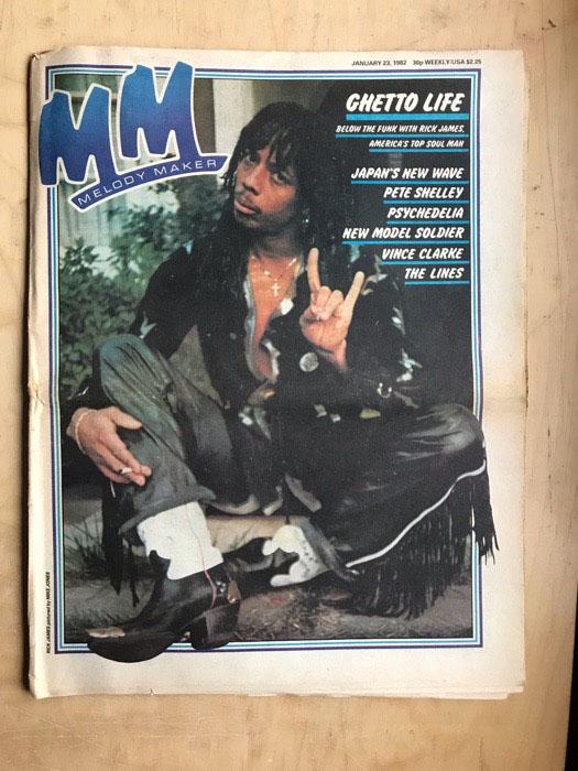 RICK JAMES - MELODY MAKER - Magazine