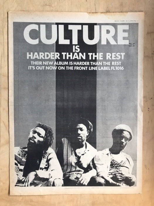 CULTURE - HARDER THAN THE REST (A) - Poster / Display