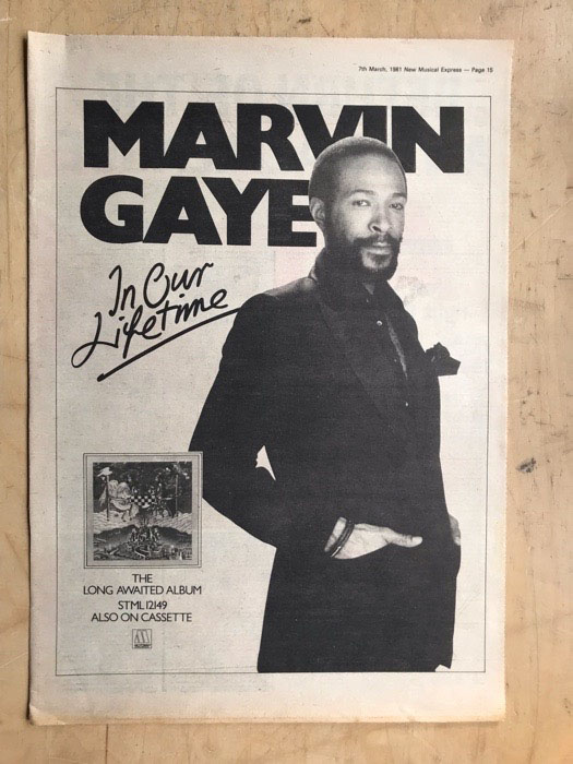 MARVIN GAYE - IN OUR LIFETIME - Poster / Affiche