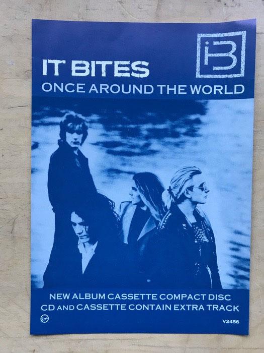 IT BITES - ONCE AROUND THE WORLD - Sticker