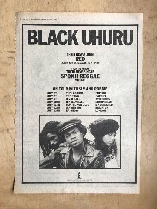 BLACK UHURU - RED(A) - Poster / Affiche