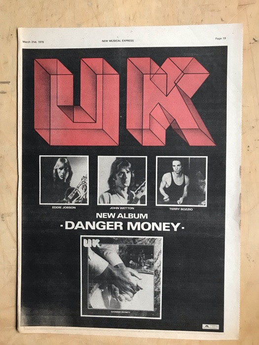 UK - DANGER MONEY - Poster / Display