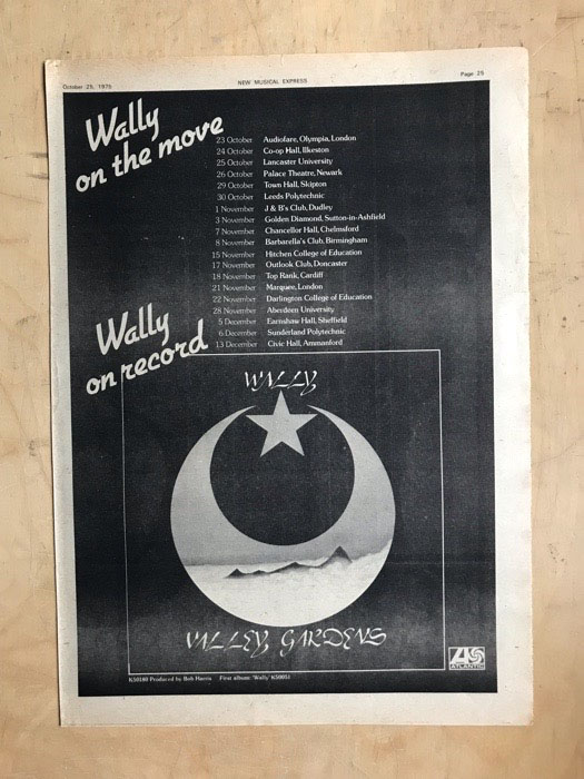 WALLY - VALLEY GARDENS - Poster / Display