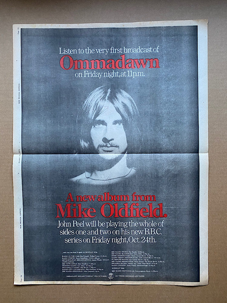 MIKE OLDFIELD - OMMADAWN (A) - Poster / Affiche