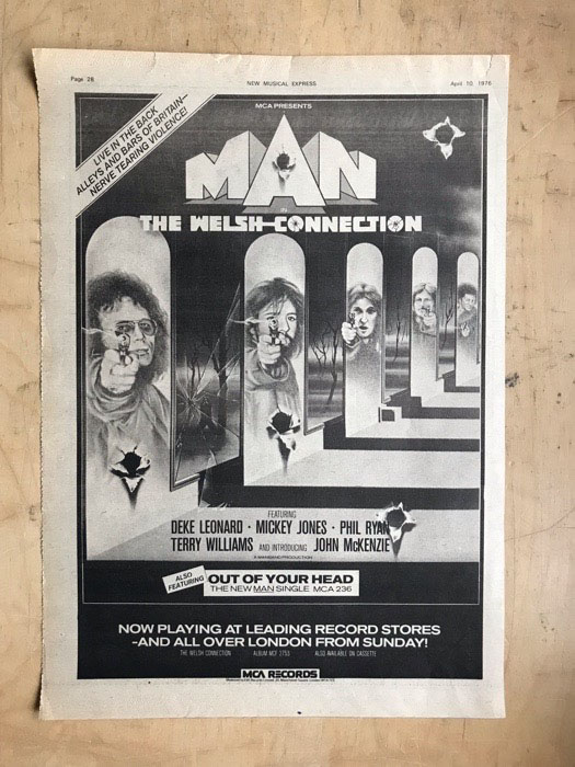MAN - WELSH CONNECTION - Poster / Display