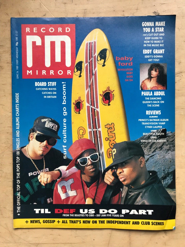 DEF JAM - RECORD MIRROR - Magazine