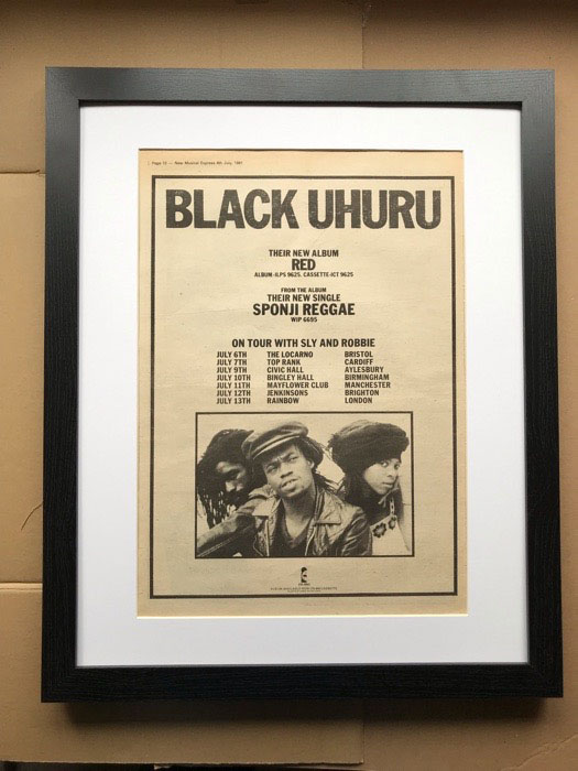 BLACK UHURU - RED(A) (FRAMED) - Poster / Affiche