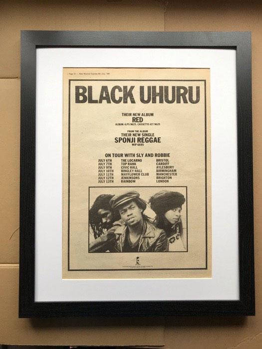 BLACK UHURU - RED(A) (FRAMED) - Poster / Affiche