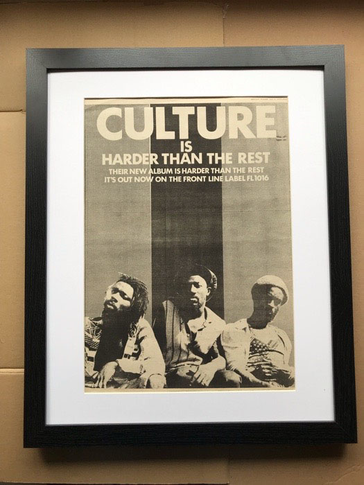 CULTURE - HARDER THAN THE REST (FRAMED) - Poster / Affiche