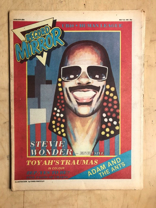 STEVIE WONDER - RECORD MIRROR - Magazine