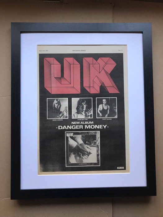UK - DANGER MONEY (FRAMED) - Poster / Display