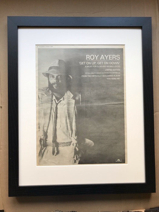 ROY AYERS - GET ON UP GET ON DOWN (FRAMED) - Poster / Affiche
