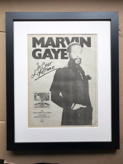 MARVIN GAYE - IN OUR LIFETIME (FRAMED) - Poster / Display