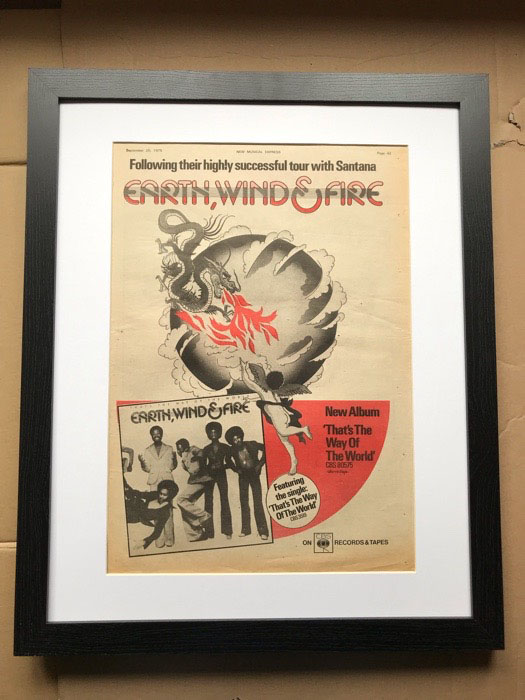 EARTH WIND AND FIRE - THAT'S THE WAY OF THE WORLD (FRAMED) - Poster / Display