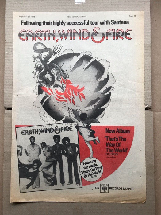 EARTH WIND AND FIRE - THAT'S THE WAY OF THE WORLD - Poster / Display