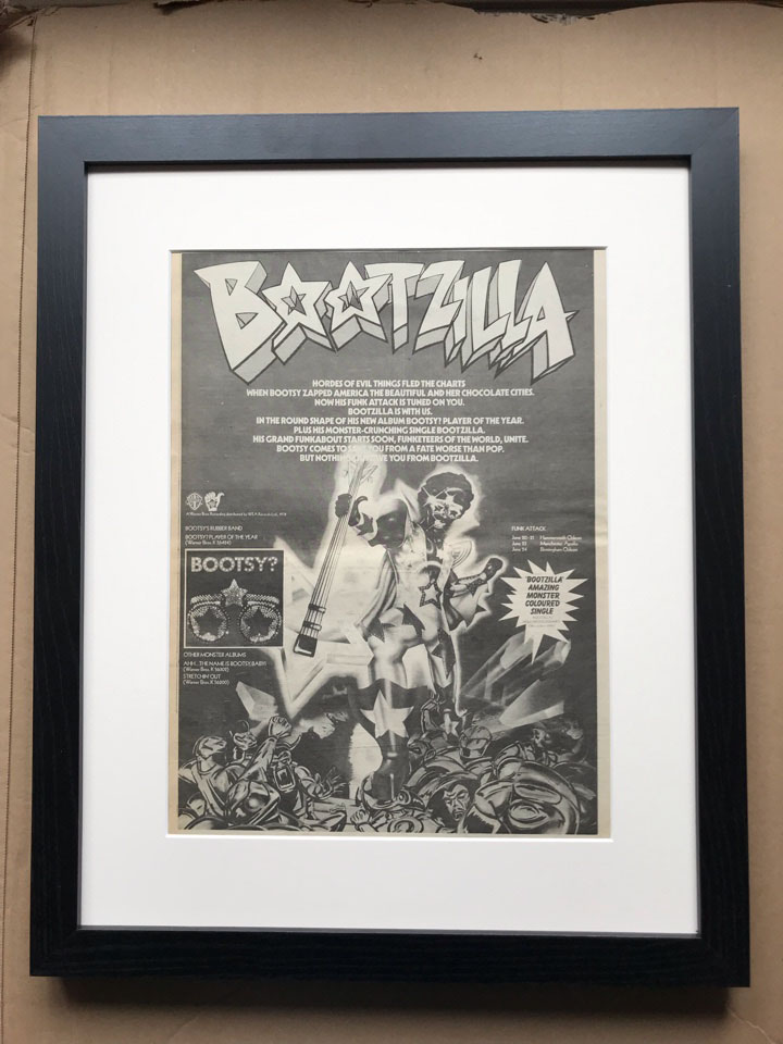 BOOTSY RUBBER BAND - BOOTZILLA (FRAMED) - Poster / Display