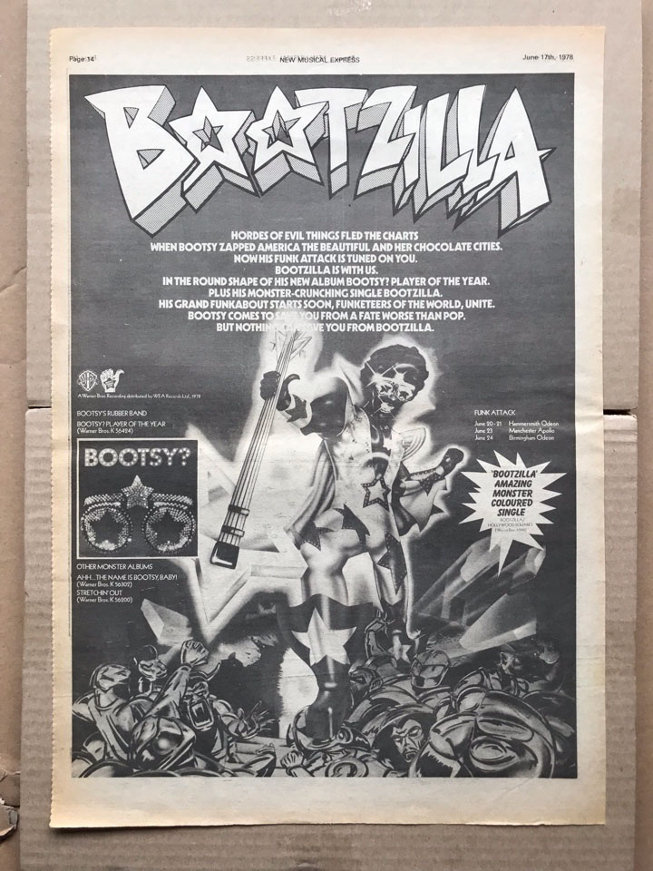 BOOTSY RUBBER BAND - BOOTZILLA - Poster / Affiche