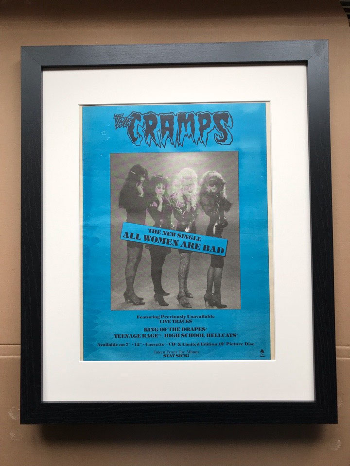 CRAMPS - ALL WOMEN ARE BAD (FRAMED) - Poster / Affiche