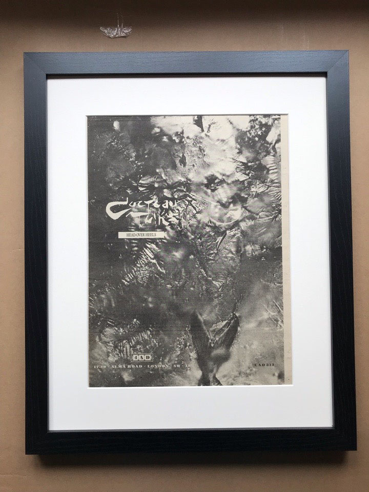 COCTEAU TWINS - HEAD OVER HEELS (FRAMED) - Poster / Affiche