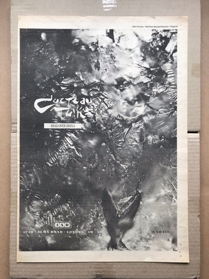 COCTEAU TWINS - HEAD OVER HEELS - Poster / Affiche