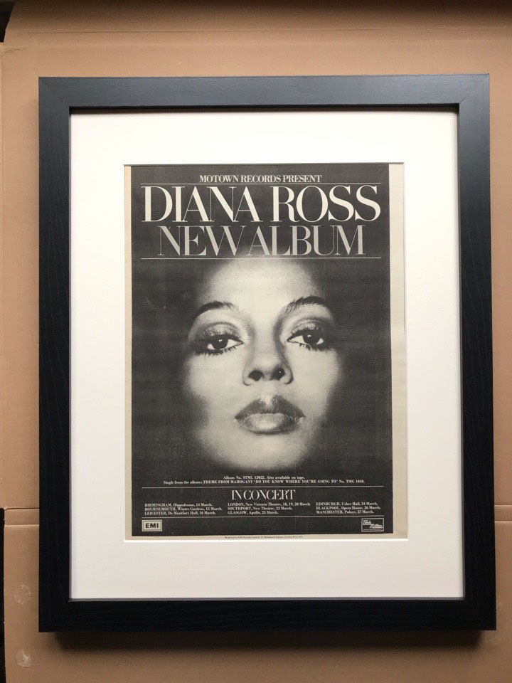 DIANA ROSS - DIANA ROSS/IN CONCERT (FRAMED) - Poster / Display