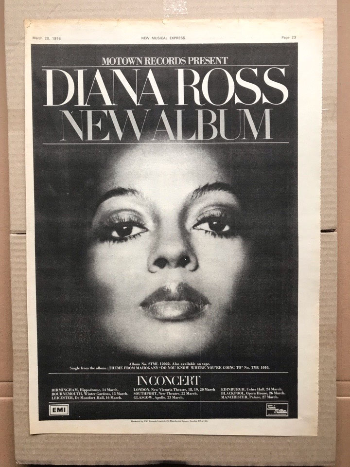 DIANA ROSS - DIANA ROSS/IN CONCERT - Poster / Display