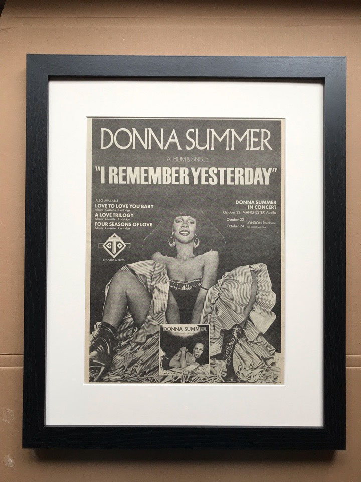 DONNA SUMMER - I REMEMBER YESTERDAY (FRAMED) - Poster / Affiche