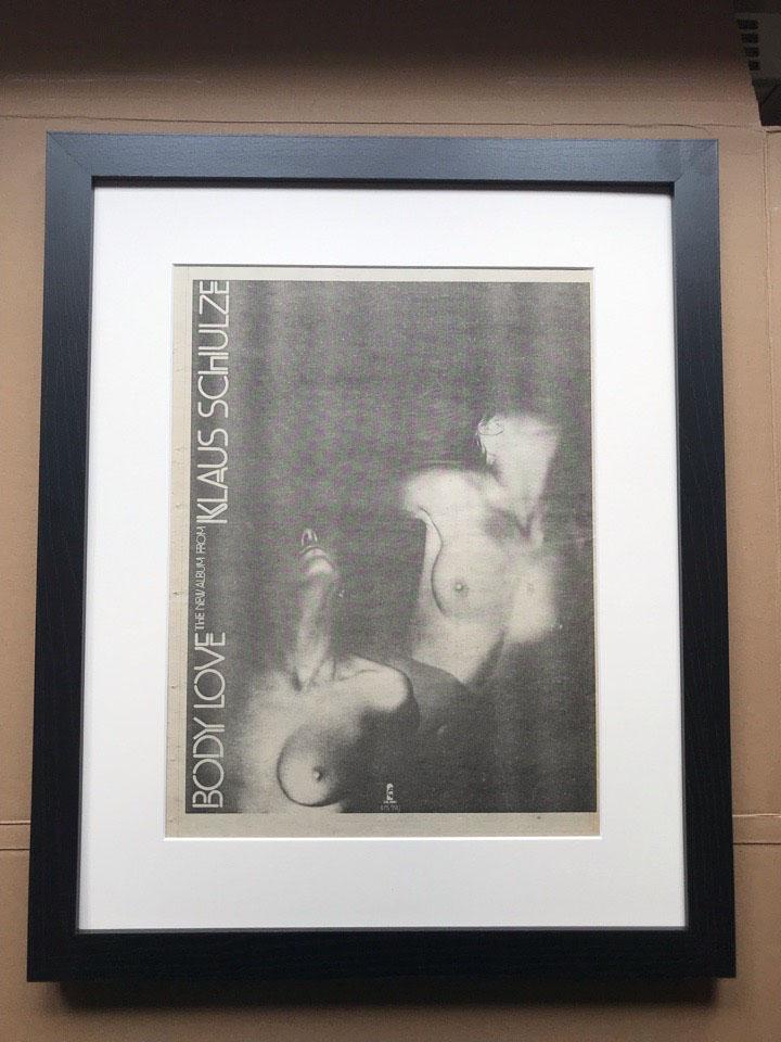 KLAUS SCHULZE - BODY LOVE (FRAMED) - Poster / Affiche