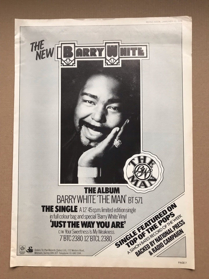 BARRY WHITE - THE MAN - Poster / Affiche