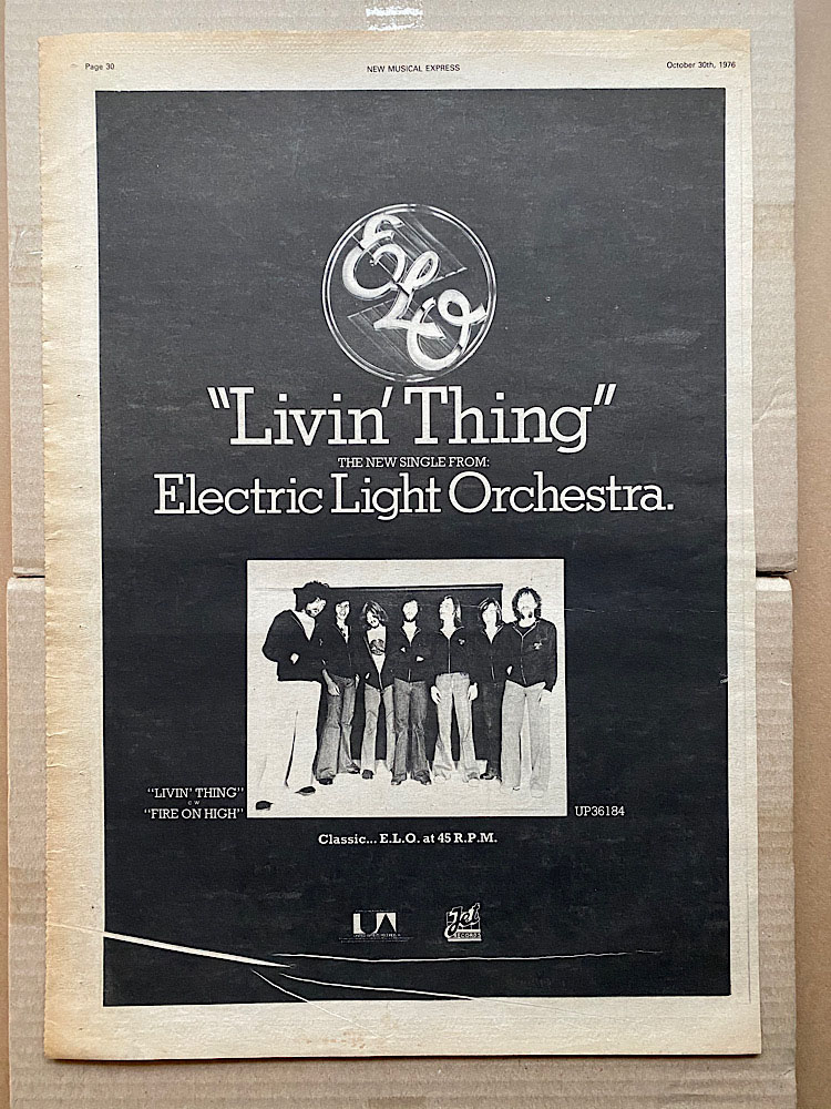 ELO - LIVIN' THING - Poster / Display