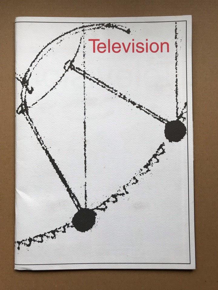 TELEVISION - 1992 TOUR(JAPAN) - Concert Program