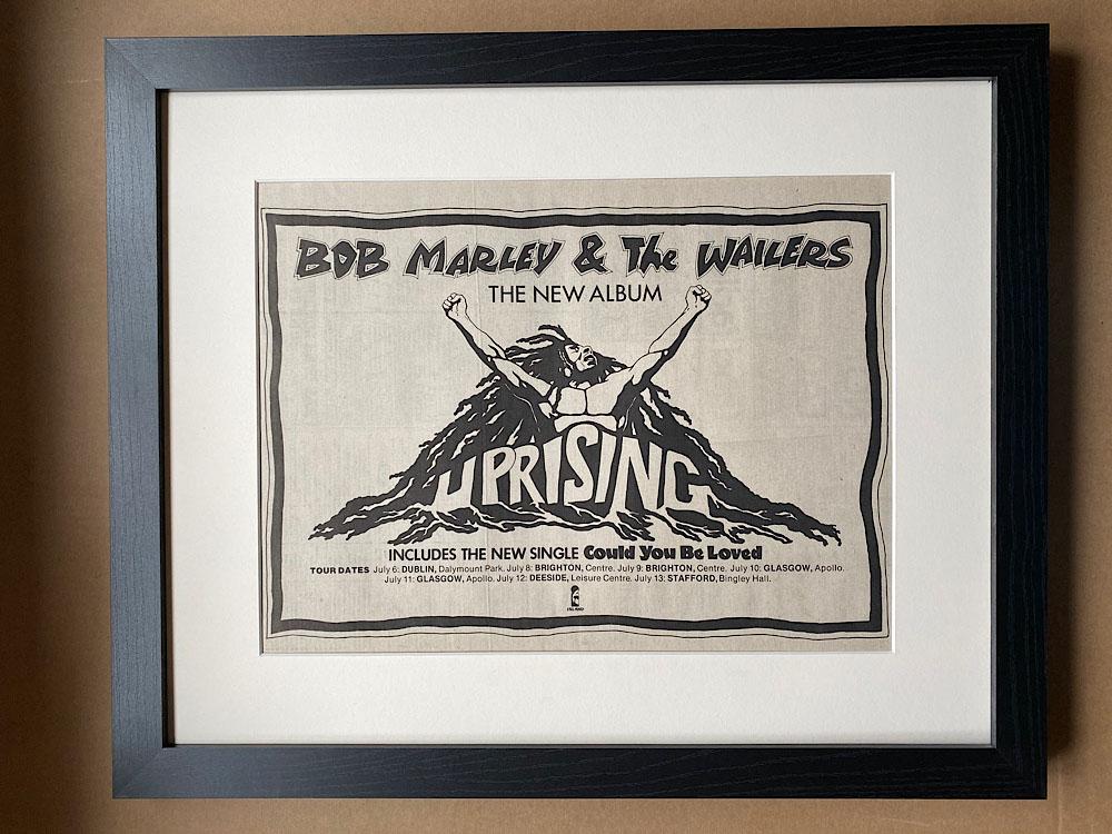 BOB MARLEY - UPRISING (FRAMED) - Poster / Affiche
