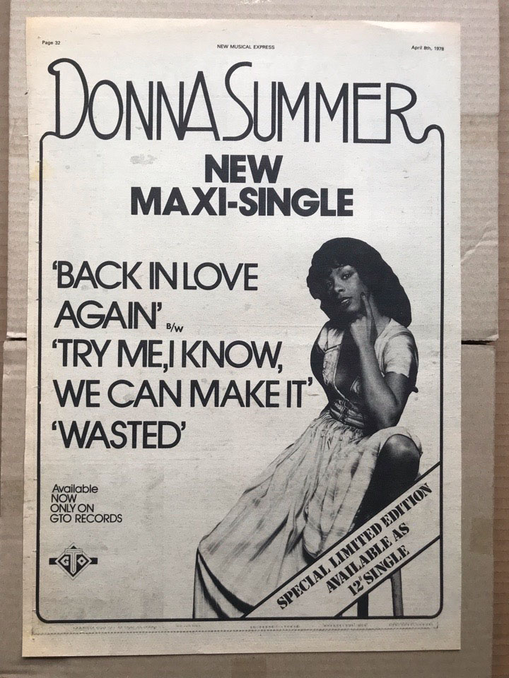DONNA SUMMER - BACK IN LOVE AGAIN - Poster / Affiche
