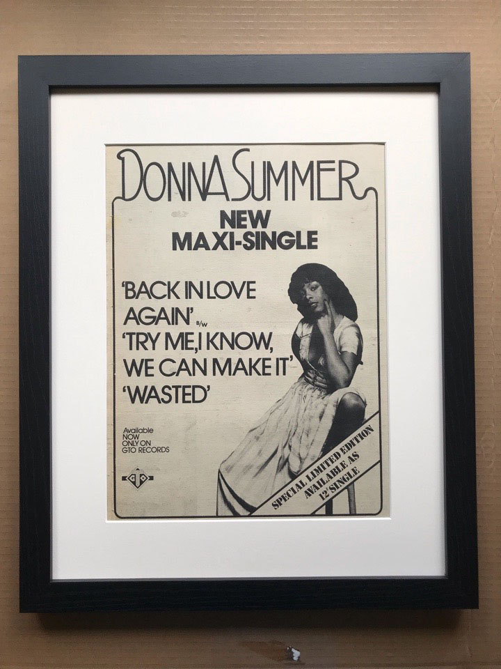 DONNA SUMMER - BACK IN LOVE AGAIN (FRAMED) - Poster / Affiche