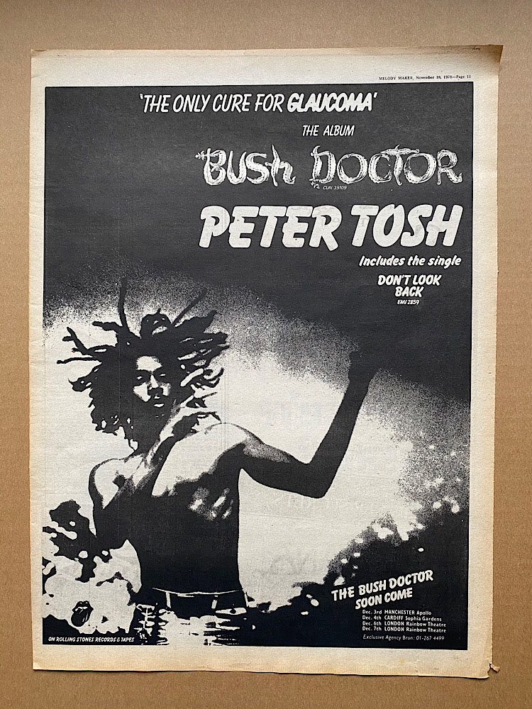 PETER TOSH - BUSH DOCTOR (A) - Poster / Affiche
